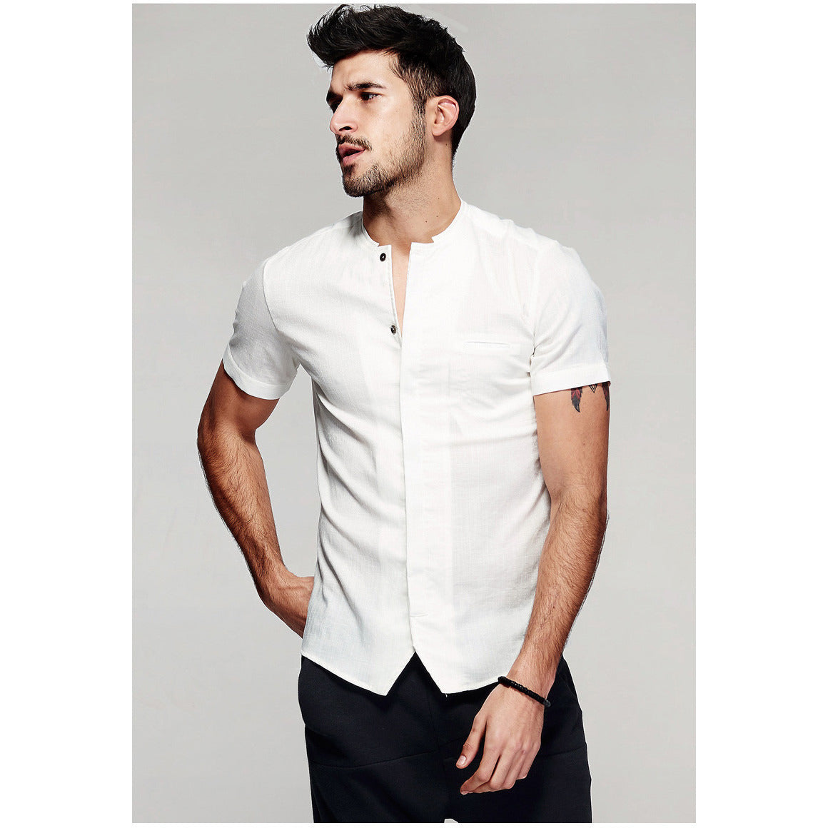 Gab Short Sleeve White Shirt - Haberfasher
