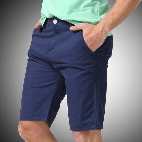 Damien Solid Navy Blue Shorts - Haberfasher