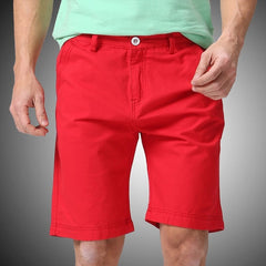 Damien Solid Red Shorts - Haberfasher