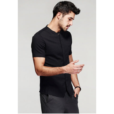 Gab Short Sleeve Black Shirt - Haberfasher