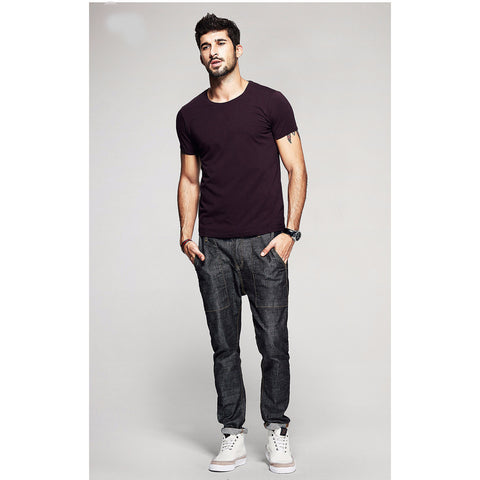 Mahogany Basic Slim Fit Crew Neck T-Shirt - Haberfasher