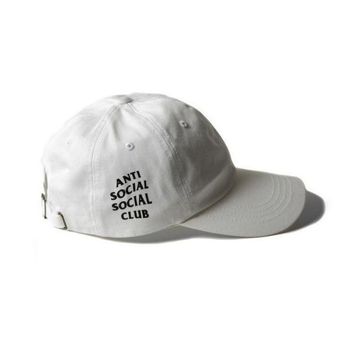 White Anti Social Social Club Cap - Haberfasher
