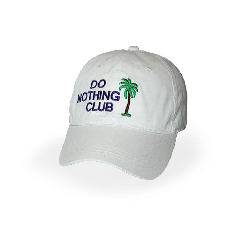 Black Hat  With White Lettering- Member on the Back Panel Do Nothing Club
