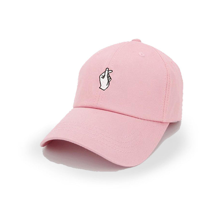 Pink Love Hand Sign Cap - Haberfasher