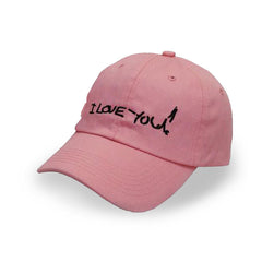 "Pink ""I Love You!"" Kurt Cobain Suicide Note Cap - Haberfasher"