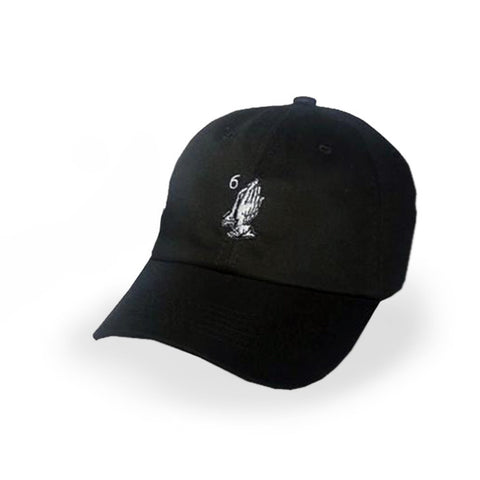 Black Drake 6 God Prayer Hands Cap - Haberfasher