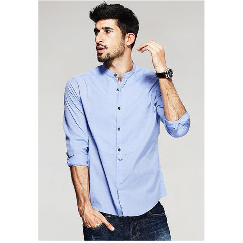 Daniel Long Sleeve Blue Shirt - Haberfasher