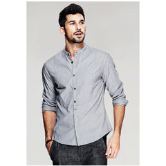 Daniel Long Sleeve Gray Shirt - Haberfasher
