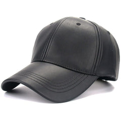 Red PU Leather Cap - Haberfasher