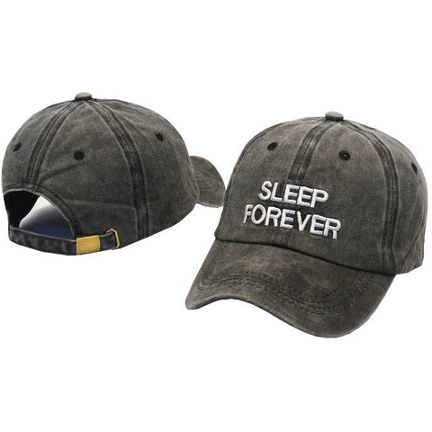 Grey Sleep Forever Cap - Haberfasher