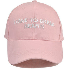 "White ""I Came To Break Hearts"" Cap - Haberfasher"