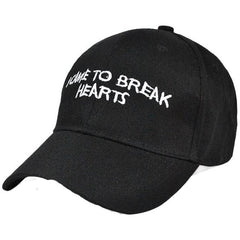 "Pink ""I Came To Break Hearts"" Cap - Haberfasher"
