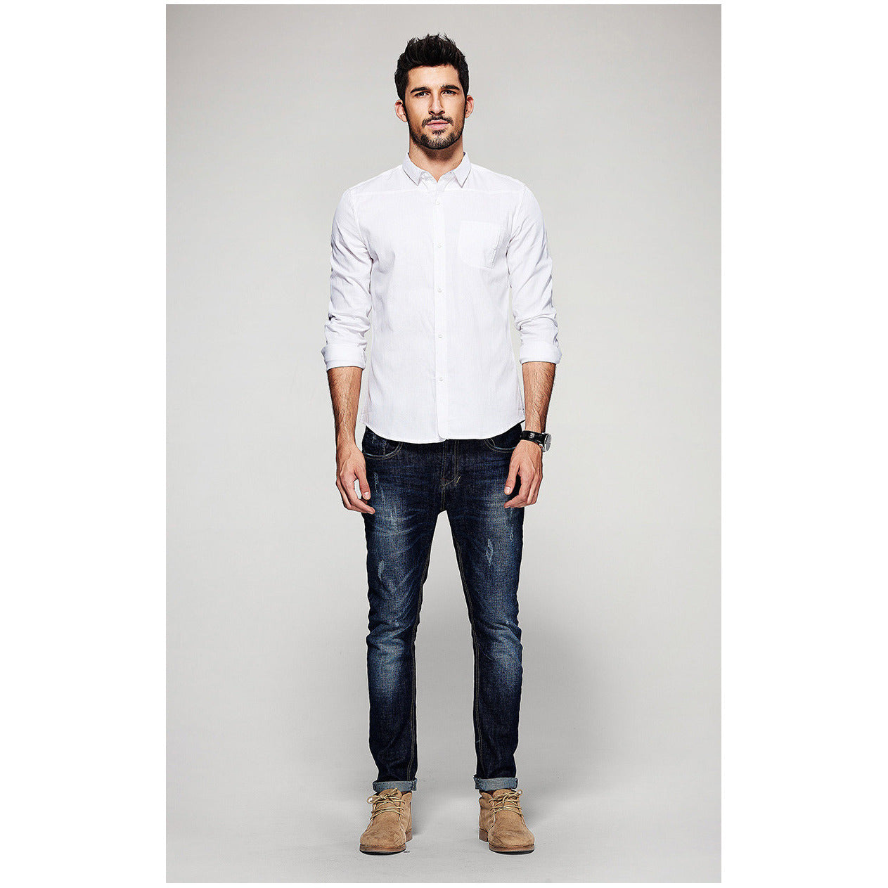 Dan Collared White Shirt - Haberfasher