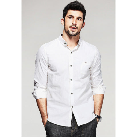 Austin White Pocket Shirt - Haberfasher