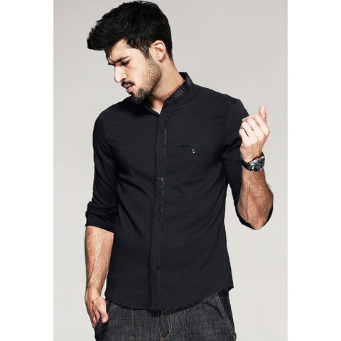 Floyd Black Pocket Shirt - Haberfasher