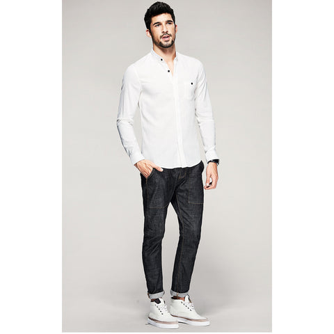 Floyd White Pocket Shirt - Haberfasher