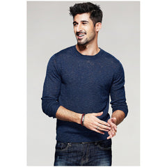 Stevie Blue Knit Sweater - Haberfasher