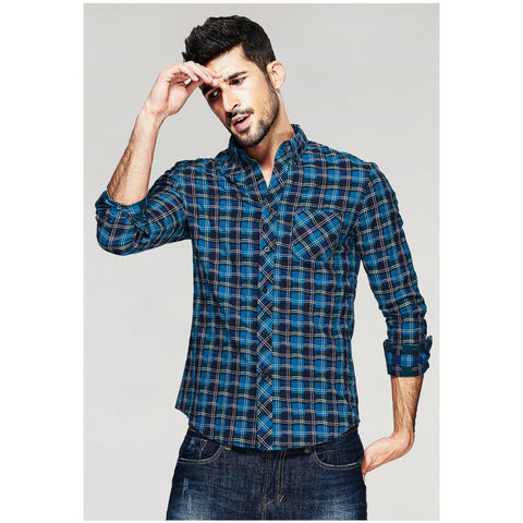 Ken Blue Plaid Shirt - Haberfasher