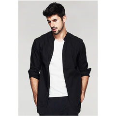 Riley Relaxed Fit Black Shirt - Haberfasher