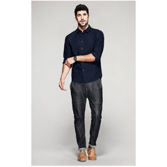 Rhett Dark Blue Shirt - Haberfasher