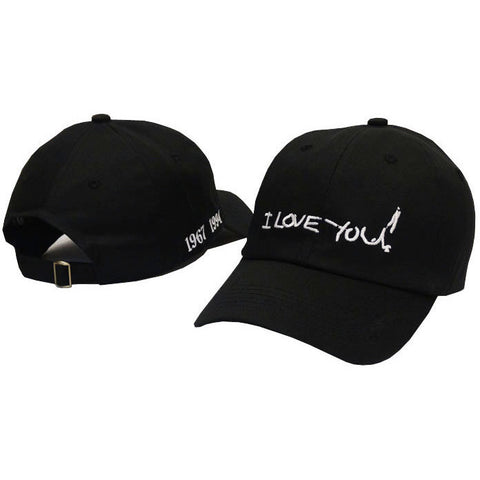 "Black ""I Love You!"" Kurt Cobain Suicide Note Cap - Haberfasher"