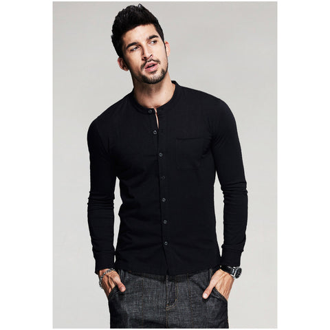 Gonzaga Long Sleeve Black Button Up Tee - Haberfasher