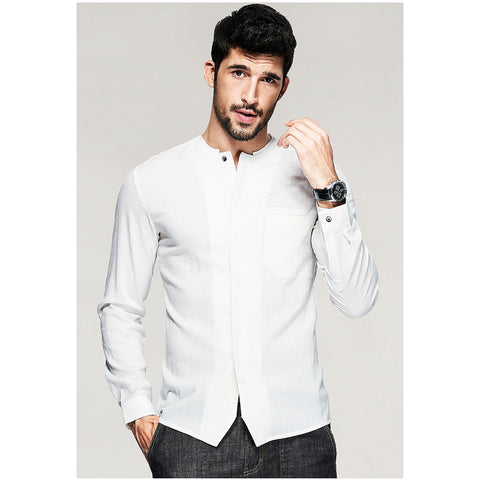 Sam Casual White Shirt - Haberfasher