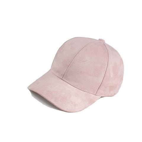 Light Pink Basic Suede Cap - Haberfasher