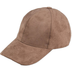 Black Basic Suede Cap - Haberfasher