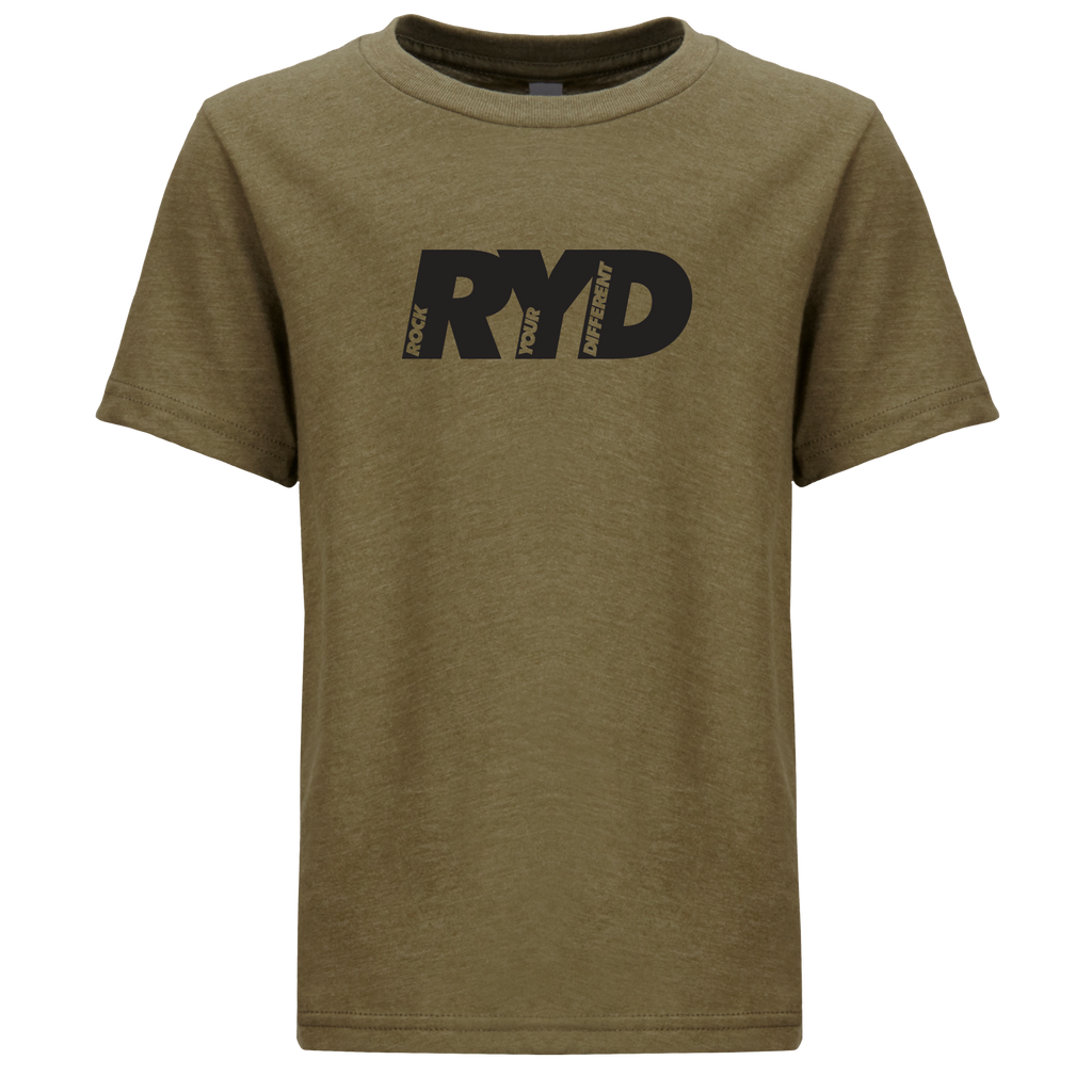 RYD Logo Youth Military Green Black Ink