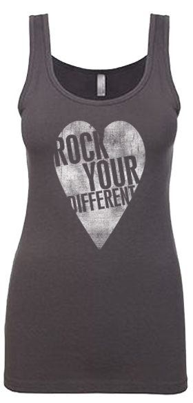 I heart RYD jersey tank Dark Gray - women's