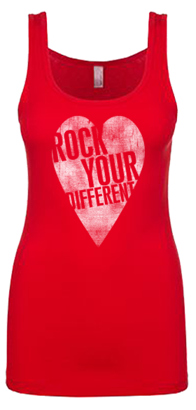 I heart RYD jersey tank Red - women's