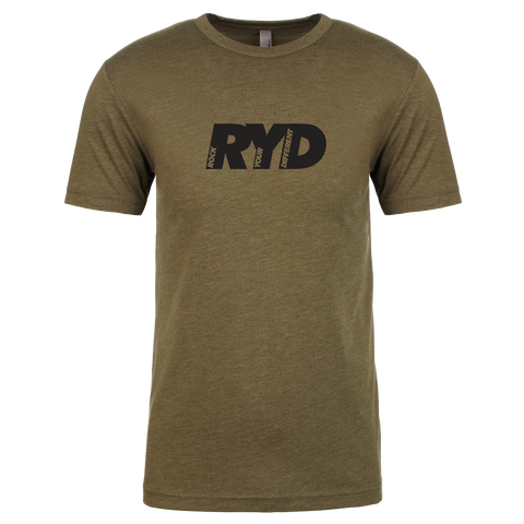 RYD Logo - Mens - Military Green Black Ink
