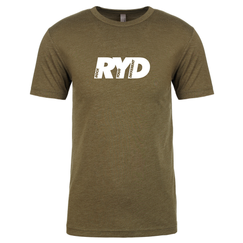 RYD Logo - Military Green - White Ink