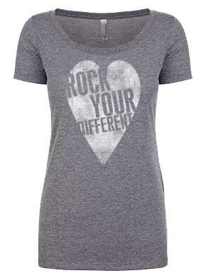 I heart RYD t-shirt - women's heather gray
