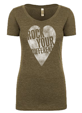 I heart RYD T-shirt - women's militarty green