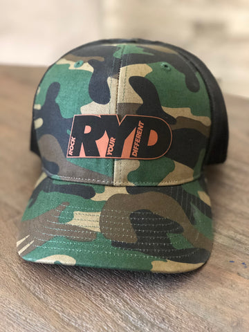 Camo Hat * Tan RYD Patch