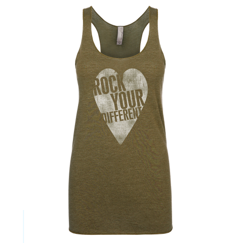 I Heart RYD Tank - Women's - Military Green