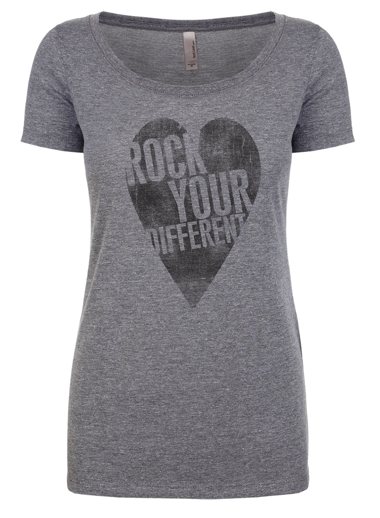 I heart RYD t-shirt - women's heather gray - black ink