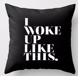I Woke Up like This Pillow Cover - Girlz Code