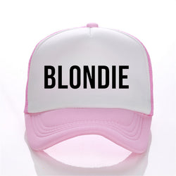 BLONDIE BROWNIE Print Trucker Caps