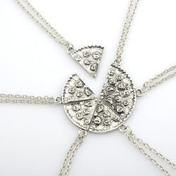 6pcs Pizza Pendant Necklaces Friendship Necklace