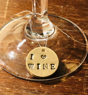 Teeny Tiny Charm: I ❤️Wine A Well Run Life I ❤️Wine Once