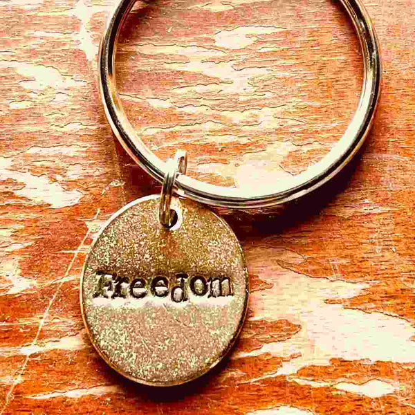 Freedom A Well Run Life Freedom Charm Key Ring ($19.99)