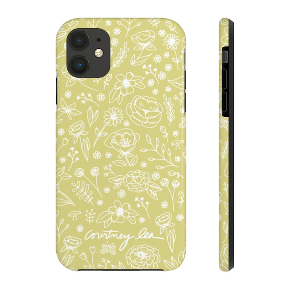 Spring Flower Phone Case - Lime