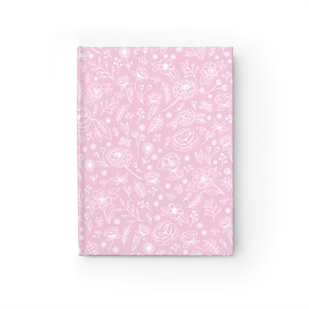 Spring Flower Hard Cover Journal - Pink
