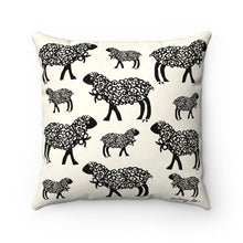 Little Sheep Print Square Pillow
