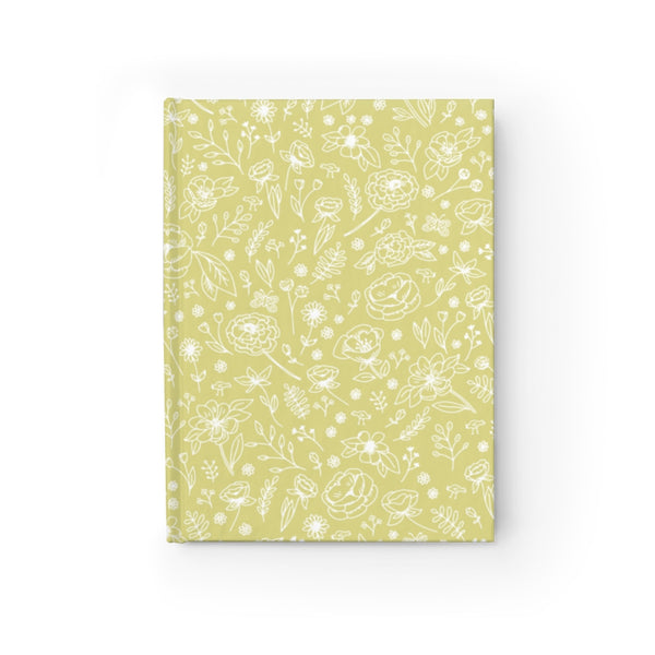 Spring Flower Hard Cover Journal - Lime