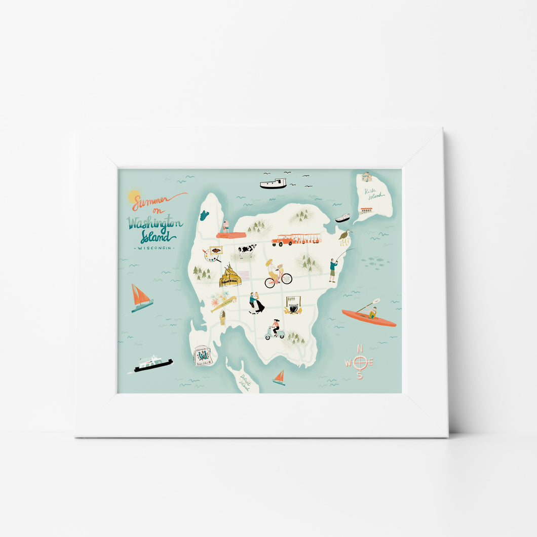 Summer on Washington Island Print