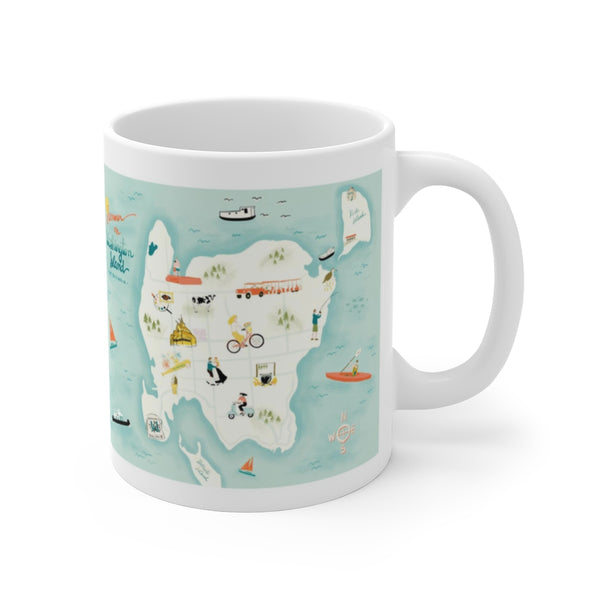 Summer on Washington Island Map Mug